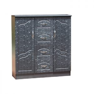 Chest - 2doors hanging with 4 drawers: Black