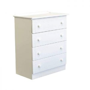 4 drawers - white