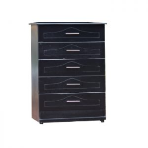 5 drawers - black