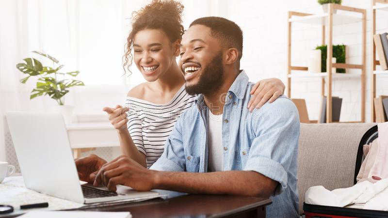 online furniture store - two people searching online