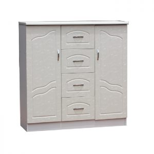 Chest - 2doors hanging with 4 drawers: White