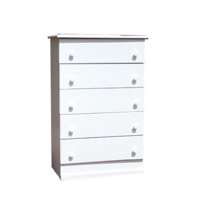 5 drawers - white